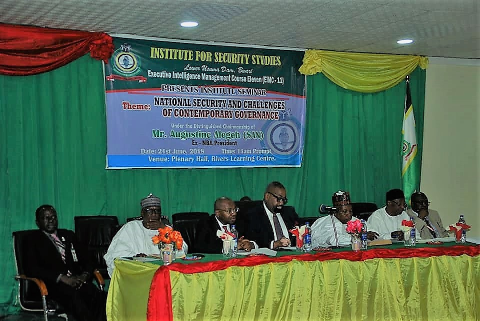 Good Governance, Best Guarantor of National Security -Prof. Rasheed at NISS Lecture