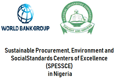 Call for Proposals for the Sustainable Procurement, Environment and Social Standards Centers of Excellence (SPESSCE) -NIGERIA