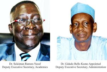 Dr.  Ramon-Yusuf, Dr. Kumo Appointed Deputy Executive Secretaries